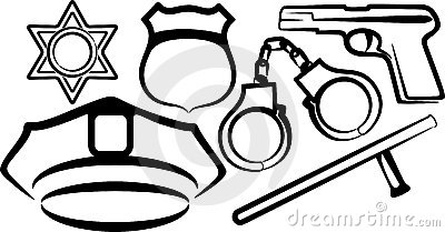 Set of police items