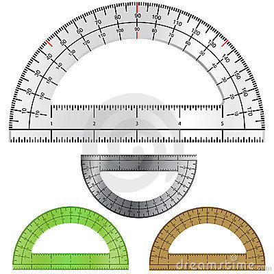 Set of Protractors for Drafting and Engineering