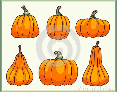 Set of pumpkins.