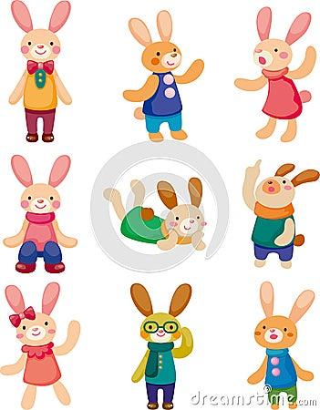 Set of rabbit