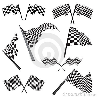 Set of racing flags
