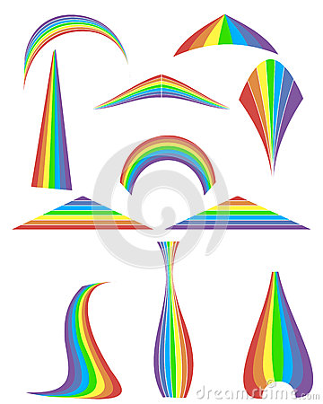 Set of 12 rainbow