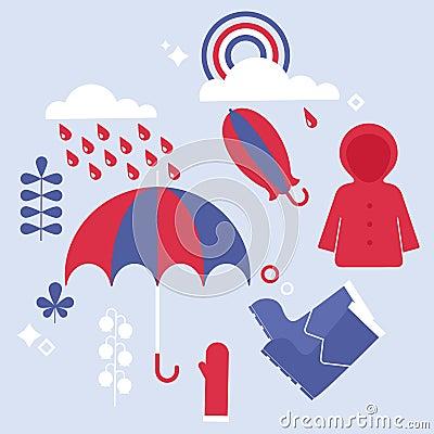 Set of rainy elements