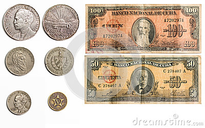 Set of rare Cuban Money