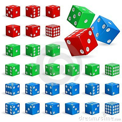 Set of realistic dice