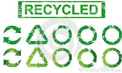 Set of recycling symbols