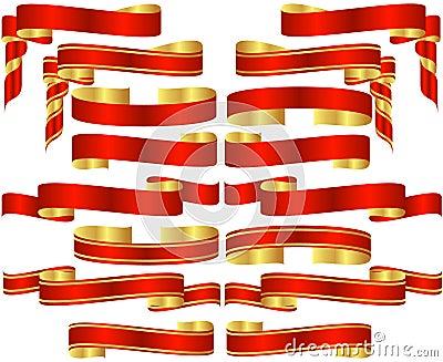 Set of Red Banner Scrolls