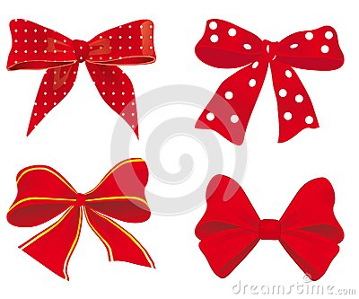 A set of red ribbons
