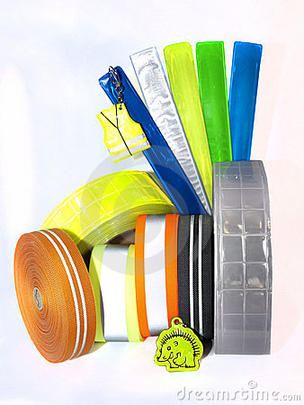 Set of reflective armbands and tapes