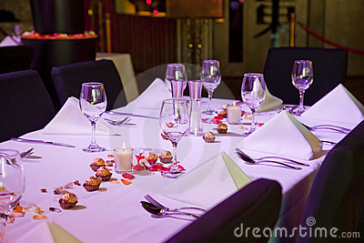 Set restaurant table for special occation