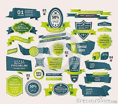 Set Retro faborki i etykietki