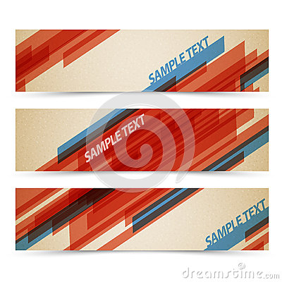 Set of retro horizontal banners