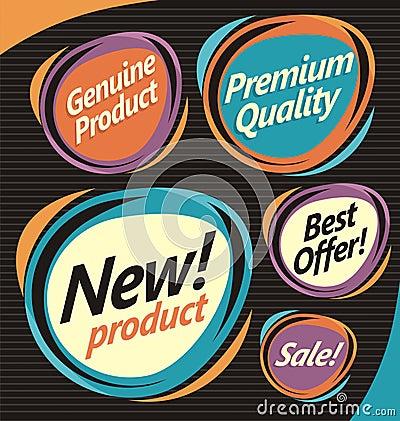 Set of retro labels