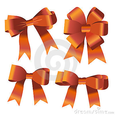 Set of ribbon bow