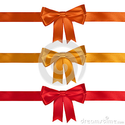 Set of ribbon bows