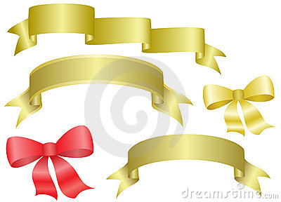 Set of  ribbons and bows - vector