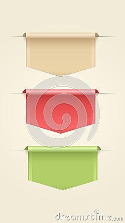 Set of Web Ribbons