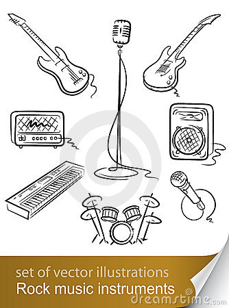 Set rock music instrument