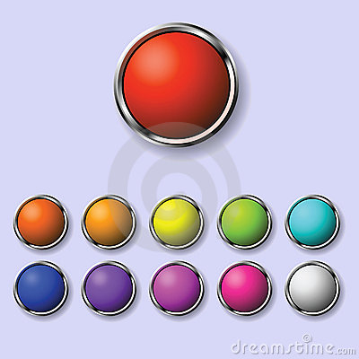 A set of round buttons