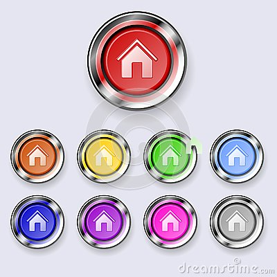 A set of round buttons Home