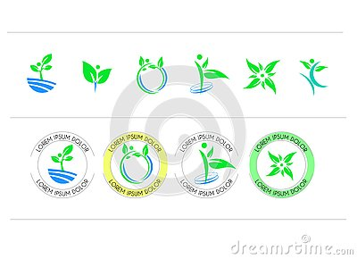 Set of round icon symbol vector design Stock Photo