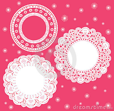 Set for round lace doily.