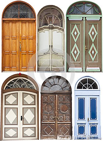 Set of round top doors