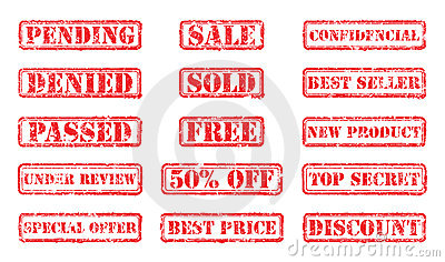 Set rubber stamps