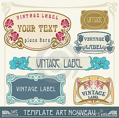 Free Set S Art Nouveau Royalty Free Stock Photos - 19970848