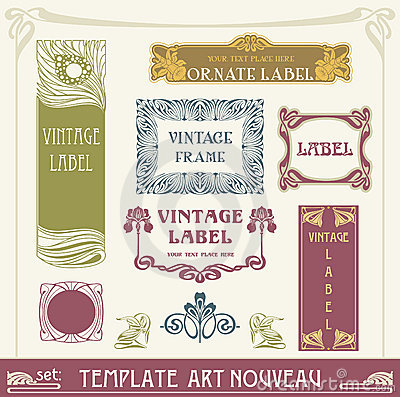 Free Set S Art Nouveau Royalty Free Stock Photography - 19970867