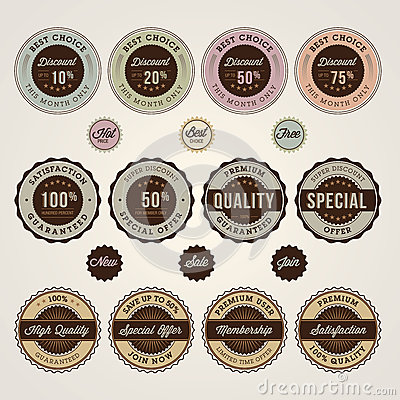 Set of sale and discount labels and stickers