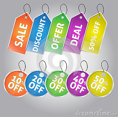 Set of Sale And Discount Tags
