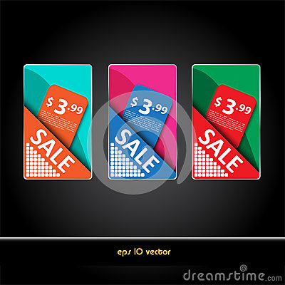 Set of  sale price signs