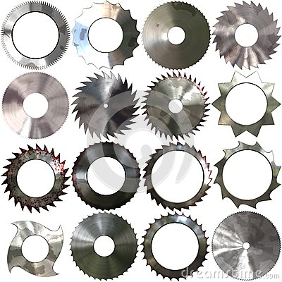 Set of saw blades generated textures Stock Photo