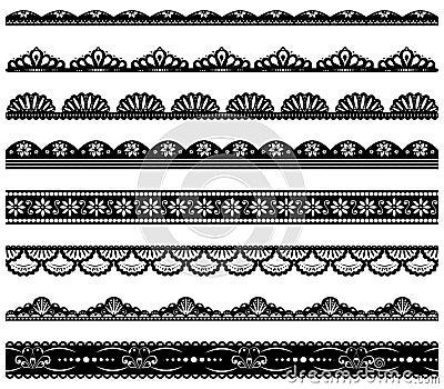Set Of Scalloped Vector Borders Royalty Free Stock Photo ...