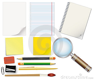 Set of school supplies