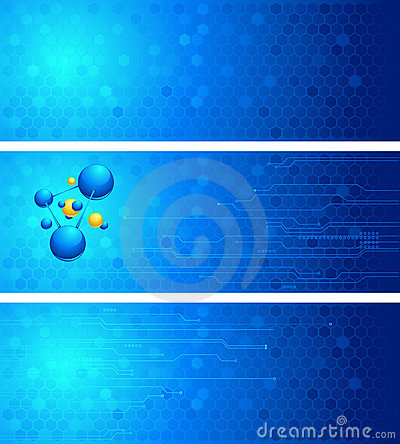 Set of science backgrounds