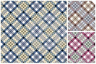 Set of  scottish style textile