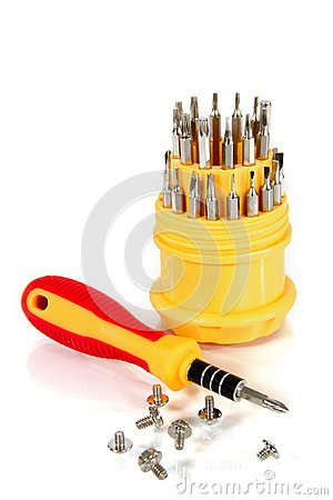 Set of screw-drivers