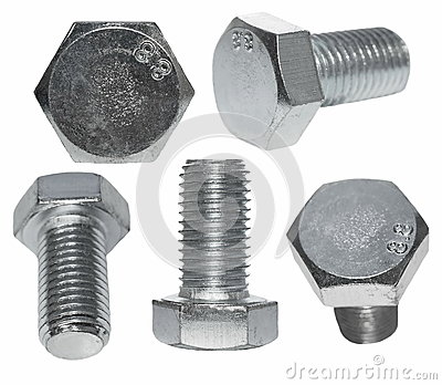 Set screw heads, bolt isolated