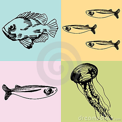 Set of Sea Creatures