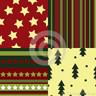 A set of seamless Christmas patterns