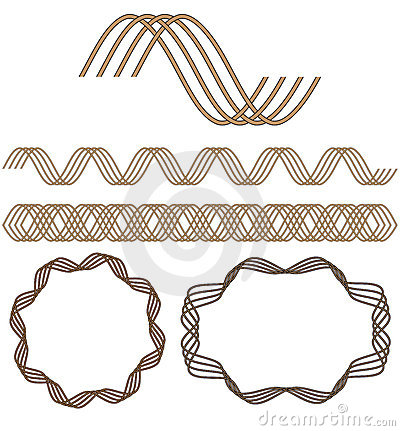 Set of seamless decorative elements.
