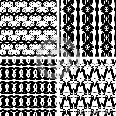 Set seamless decorative pattern