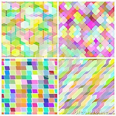 Set seamless geometric pattern.