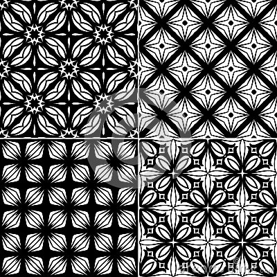 Set seamless geometric pattern