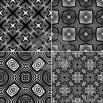 Set seamless geometric pattern