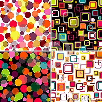 Free Set Seamless Patterns Stock Image - 13597851