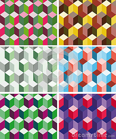 Set of seamless prismatic patterns