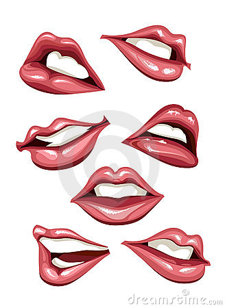 Set of sexy lips